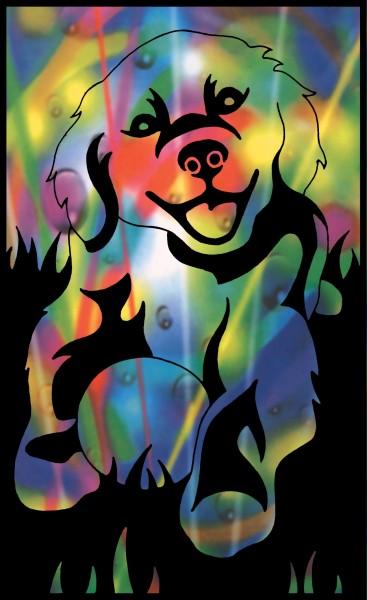 Reeves Mini Gravurfolien Regenbogen Hund