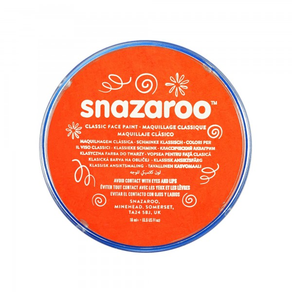 Snazaroo Schminkfarbe Dunkelorange 18 ml