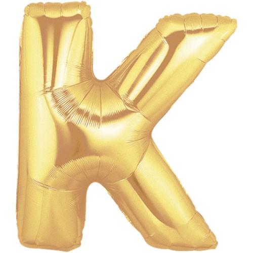Buchstaben K gold Folienballon