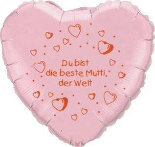 Beste Mutti Folienballon Herz - 45cm
