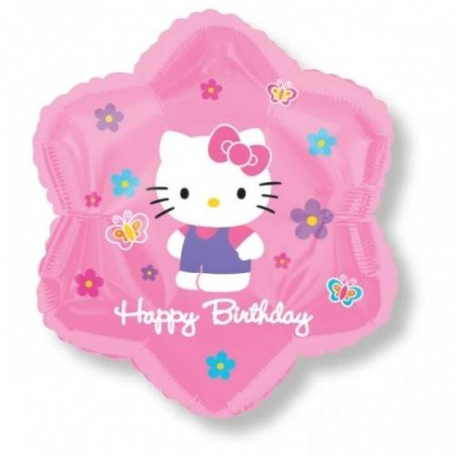 Hello Kitty Folienballon Stern - 45cm