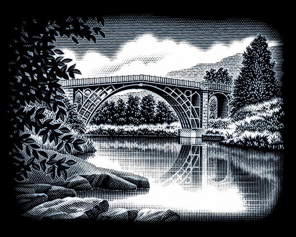 Reeves Gravurfolien Silber Die Brücke