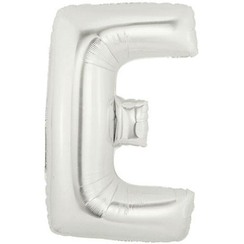 Buchstaben E silber Folienballon - 101cm