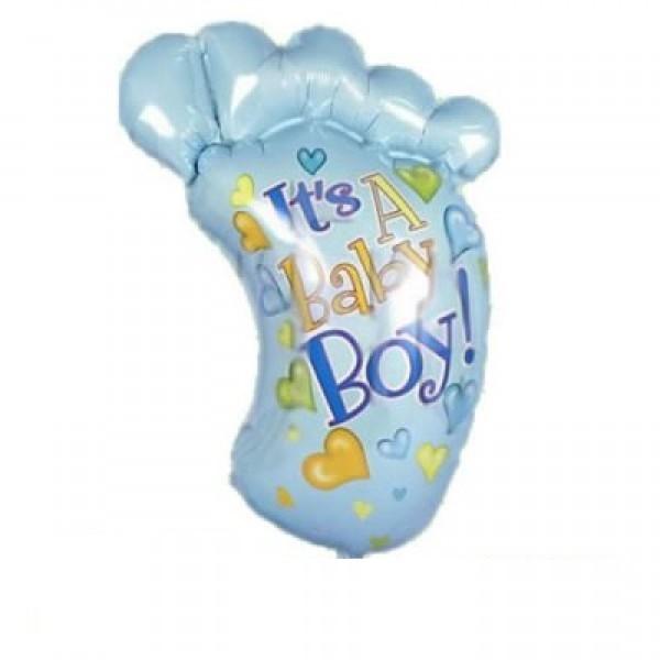 Babyfuss in blau Folienballon- 70cm