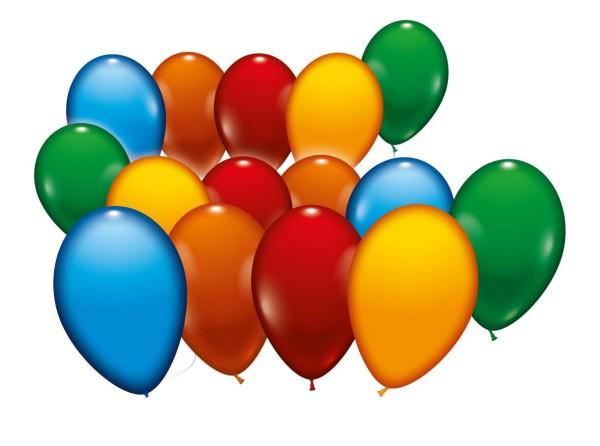 Ballons gemischt 500 St. 18cm
