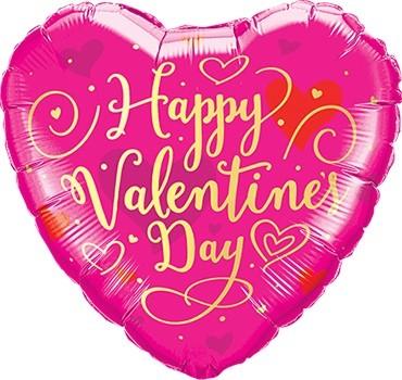 Mini Folienballon Happy Valentines Day