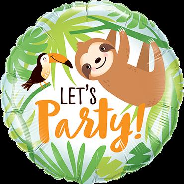 Faultier Let´s Party Folienballon