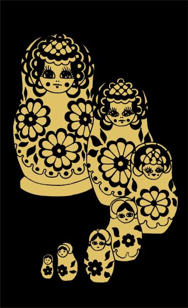 Reeves Mini Gravurfolien Gold Russische Puppe Matrjoschka