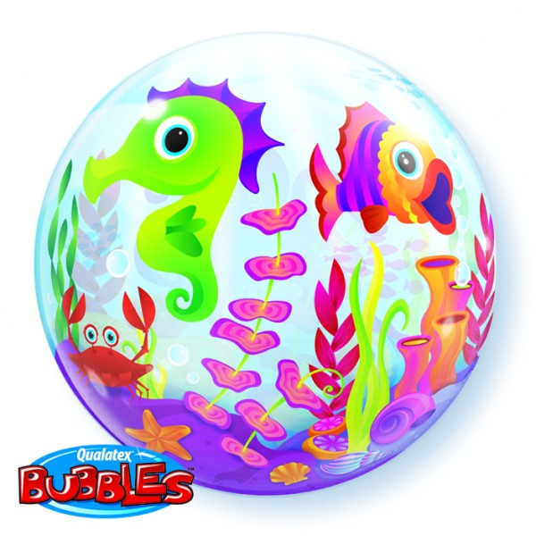 "Qualatex Bubble Fun Sea Creatures Urlaub 22"" 56cm Luftballon"