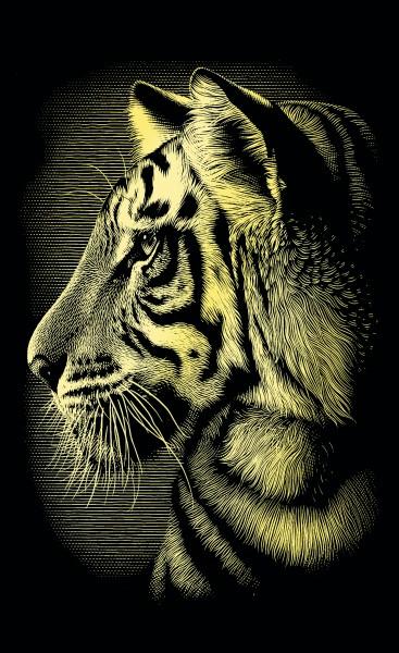 Reeves Mini Gravurfolien Gold Tiger