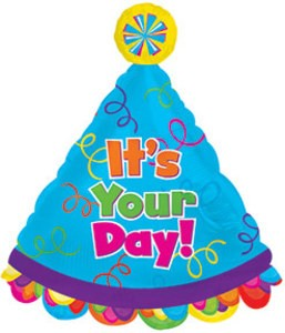 Its your Day Party Folienballon Hut