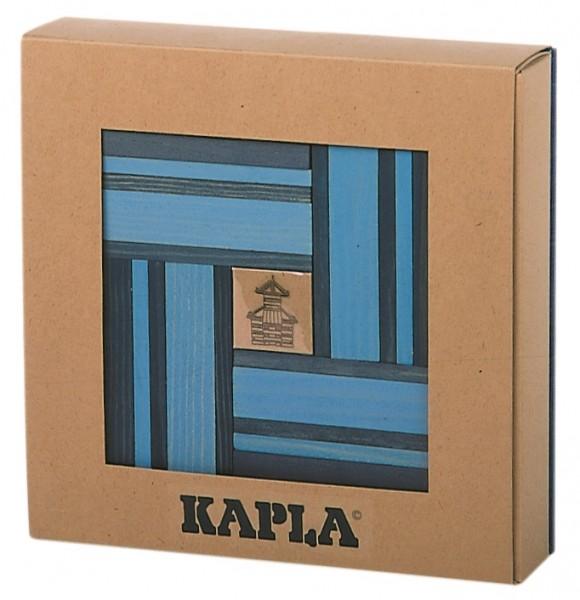 Kapla Farbe 40er Box + Kunstbuch (hellblau/dunkelblau)