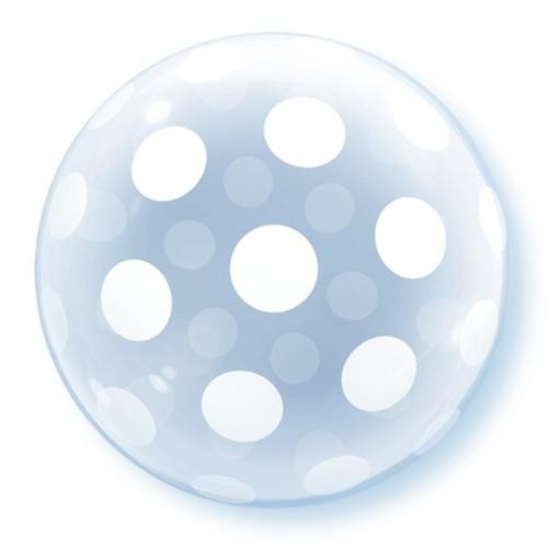 Qualatex Luftballons Deco Bubble Big Polka Dots