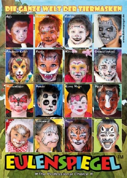 """Eulenspiegel Poster """"16 Tierisch gute Masken"""""""