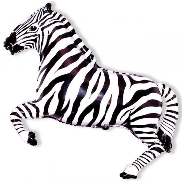 Mini Folienballon Zebra
