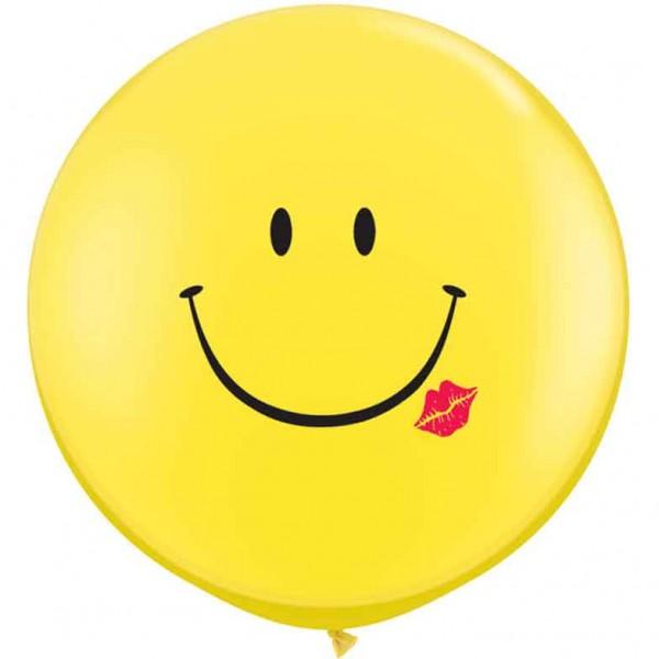 Riesenluftballon Smiley mit Kuss (Smile and kiss) 90cm 36