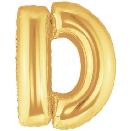 Buchstaben D gold Folienballon - 101cm
