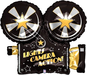 Filmkamera Hollywood Folienballon - 81cm