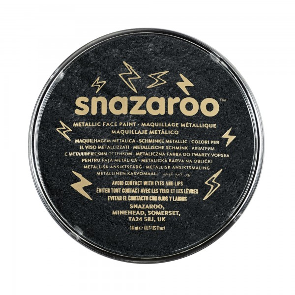 Snazaroo Schminkfarbe Metallic Elektrischschwarz 18 ml