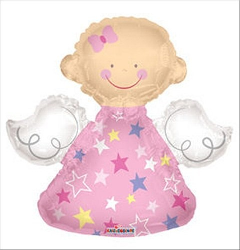 Mini Folienballon rosa Engel Girl Folienballon - 35cm
