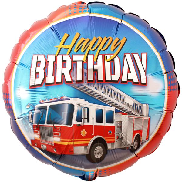 Feuerwehr Happy Birthday Folienballon