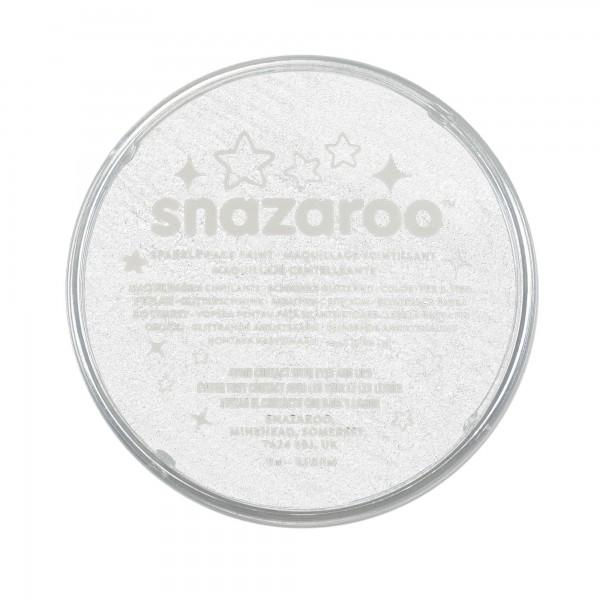 Snazaroo Schminkfarbe Schimmernd Weiß 18 ml