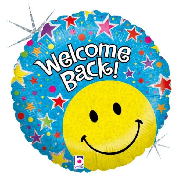 Welcome Back Smiley Folienballon