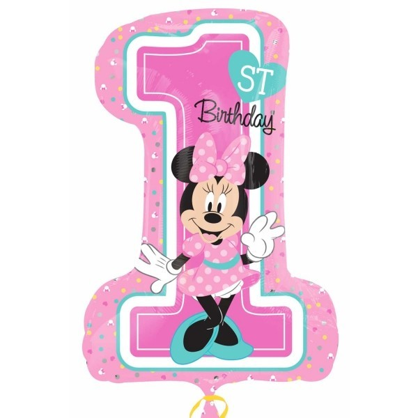 Minnie 1st Birthday Folienballon - 71 cm