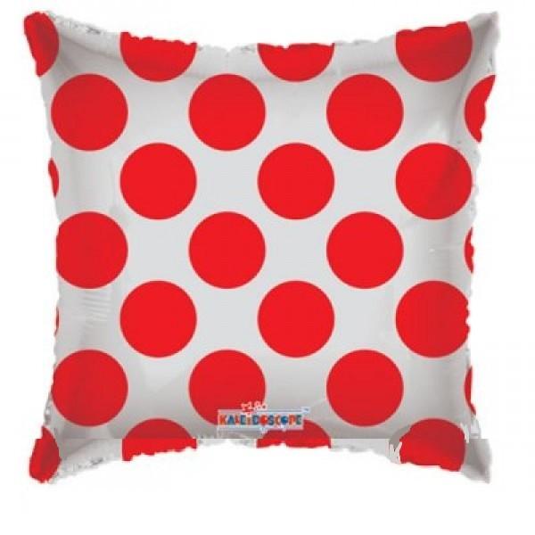 durchsichtiger Folienballon mit roten Punkten - 45cm