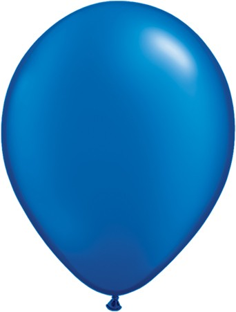 Latex Luftballons Pearl Sapphire Blue (Saphirblau) 10St. - 27,5 cm