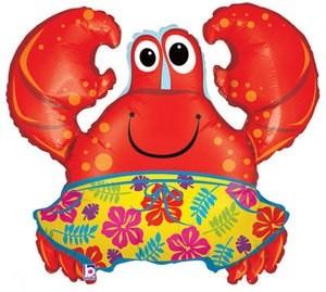 Krabbe mit Badeshorts Folienballon