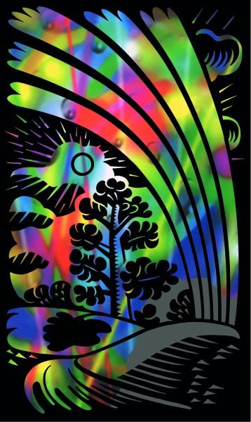Reeves Mini Gravurfolien Regenbogen Regenbogen