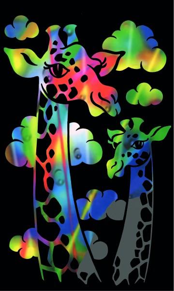 Reeves Mini Gravurfolien Regenbogen Giraffe