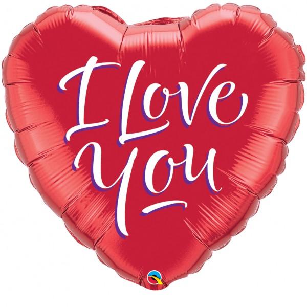 Mini Folienballon I love you Herz