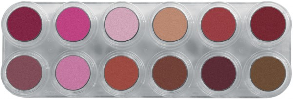 Grimas Lipstick Pure LP Pearl Palette - 12 x 2,5ml