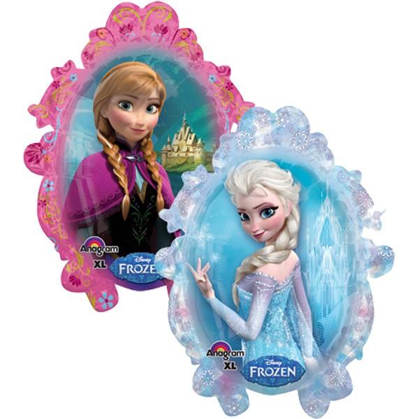 Disney Frozen Elsa und Anna im Spiegel Folienballon