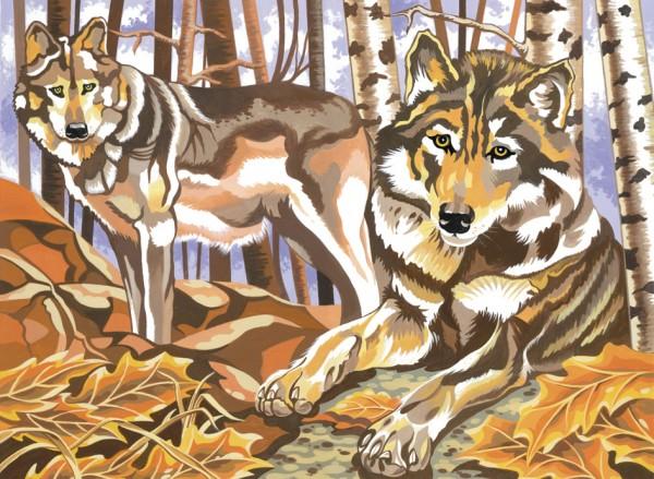 Reeves Malen nach Zahlen Wölfe
