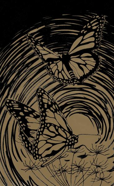 Reeves Mini Gravurfolien Gold Schmetterling