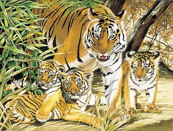 Reeves Malen nach Zahlen Tiger und Junge