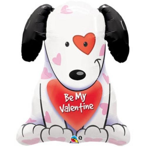 Hund Love 'Be my valentine' Folienballon - 79cm