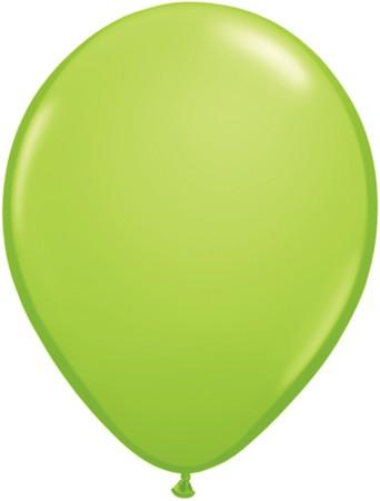 Latex Luftballons Fashion Lime Green (Hellgrün) 10St. - 27,5 cm