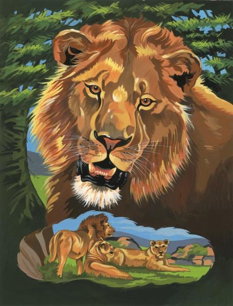 Reeves Junior Malen nach Zahlen Löwenportrait