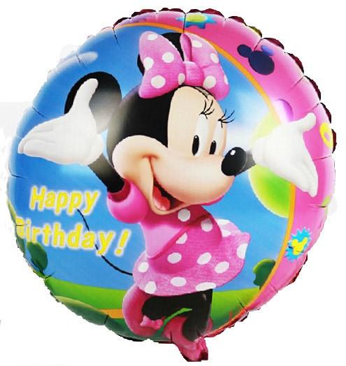 Happy Birthday Minnie Maus Folienballon - 46cm