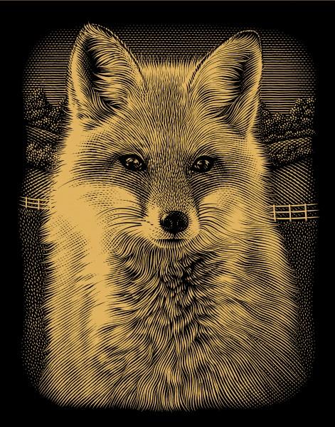 Reeves Gravurfolien Gold Majestätischer Fuchs