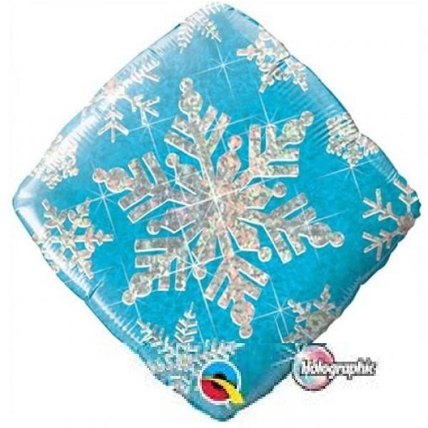 Snowflakes Sparkles Blue SchneeflockenFolienballon - 45cm
