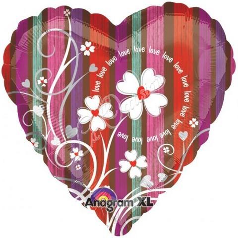Love Flourish Folienballon - 45cm