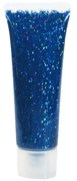 Eulenspiegel Glitzer Gel Blau Juwel