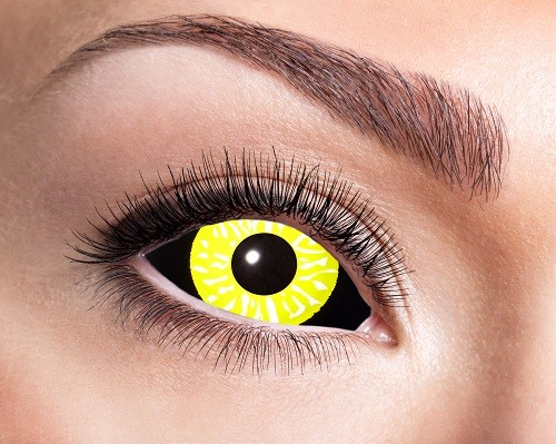 Eyecatcher Sclera 6 Monatslinsen Black Yellow