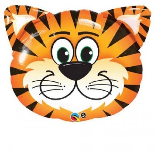 Tiger Kopf Folienballon - 76cm