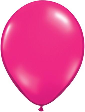 Latex Luftballons Jewel Magenta 10St. - 27,5 cm